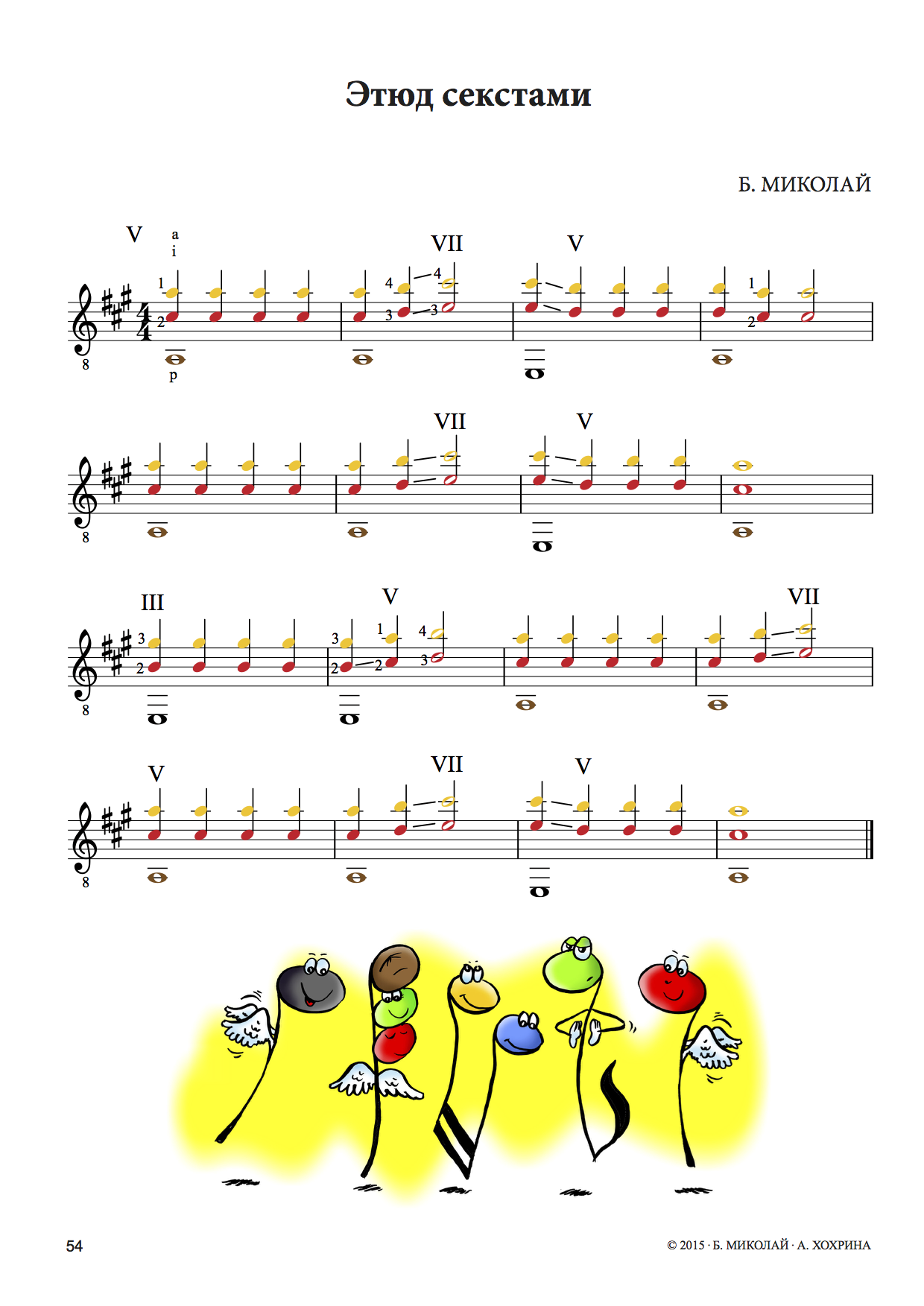 Beispielseite Russische Gitarrenschule