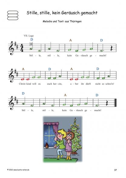 Beispielseite Bekannte Weihnachtslieder