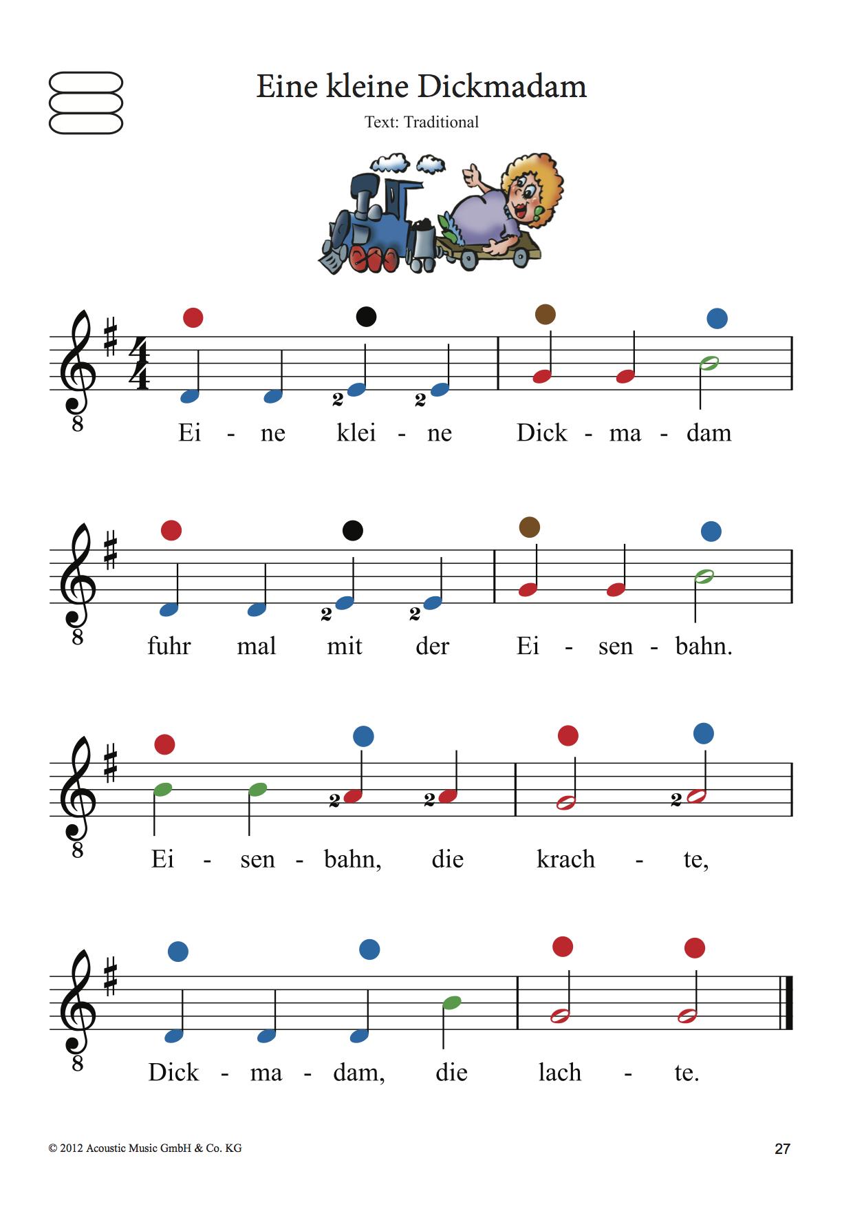 Beispielseite Die bunte Gitarrenschule – Band 1