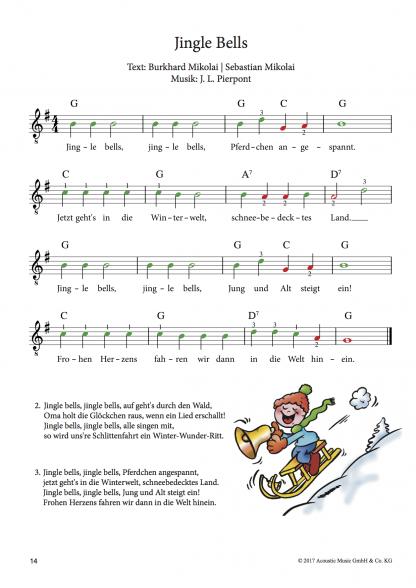 Beispielseite Weihnachtslieder für Gitarre